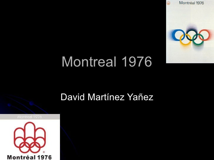 Montreal 1976 David Martínez Yañez