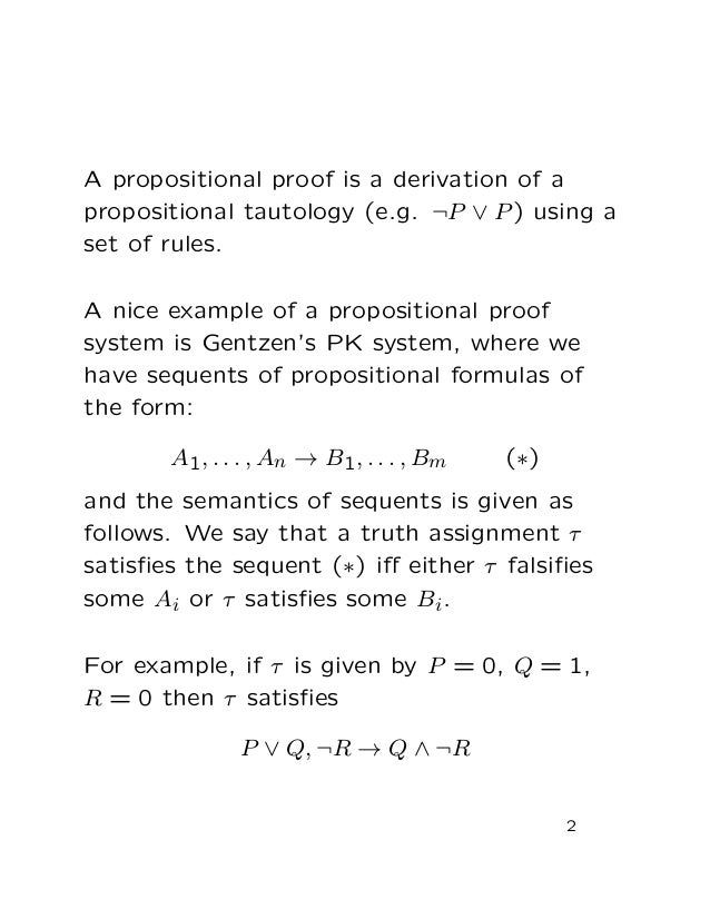 Boolean Programs and Quantified Propositional Proof System -  Slide 2