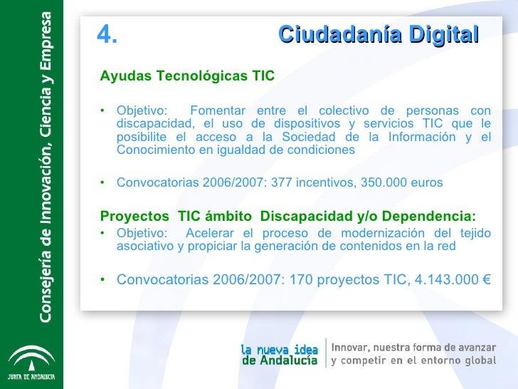 Ciudadanía Digital  <ul><li>Ayudas Tecnológicas TIC </li></ul><ul><li>Objetivo:  Fomentar entre el colectivo de personas c...