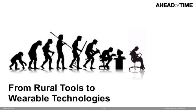 © 2016 Ahead of Time GmbHAhead of Time 63 From Rural Tools to Wearable Technologies