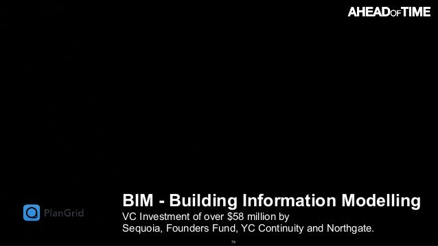 © 2016 Ahead of Time GmbHAhead of Time 79 BIM - Building Information Modelling VC Investment of over $58 million by 