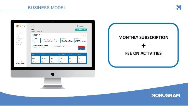 BUSINESS MODEL MONTHLY SUBSCRIPTION + FEE ON ACTIVITIES