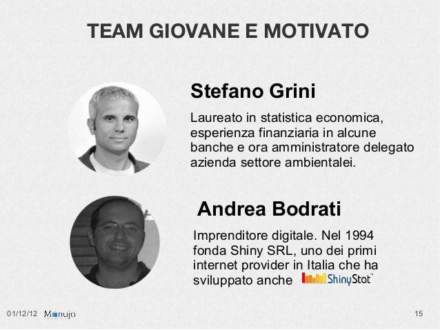 TEAM GIOVANE E MOTIVATO                   Stefano Grini                   Laureato in statistica economica,               ...