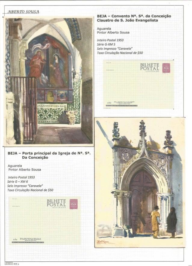 .ÃIBERT 0 5011554 BEJA - Convento Na.  S3. da Conceição  Claustro de S.  João Evangelista   'l  Aguarela Pintor Alberto So...