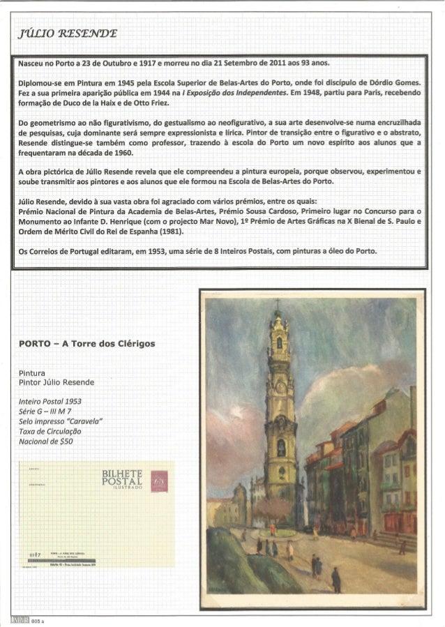 111210 RESENDE  Nasceu nrto a 23 de Outubro e 1917 e morreu no dia 21 Setembro de 2011 aos 93 anos.   Diplomou-se em Pintu...