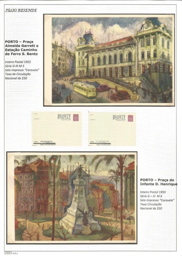 [111.10 eesewee  PORTO - Praça  Almeida Garrett e  Estação Caminho de Ferro S.  Bento  Inteiro Postal 1953 Série G-lll M 5...