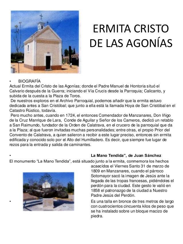 ERMITA CRISTODE LAS AGONÍAS• FOTO• BIOGRAFÍAActual Ermita del Cristo de las Agonías; donde el Padre Manuel de Hontoria sit...