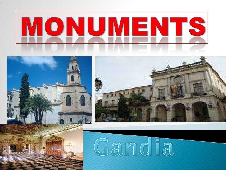 MONUMENTS<br />Gandia<br />
