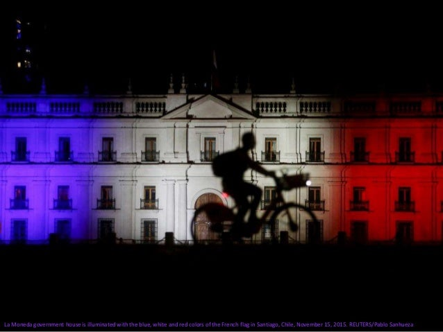 Monuments Around the World Light up for Paris Slide 3