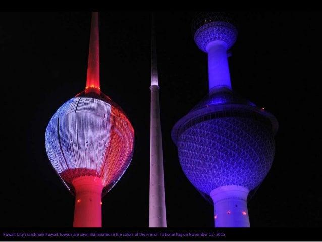 Bratislava Castle is lit in red, white and blue, in Bratislava, Slovakia, on November 14, 2015. Vladimir Simicek / AFP / G...