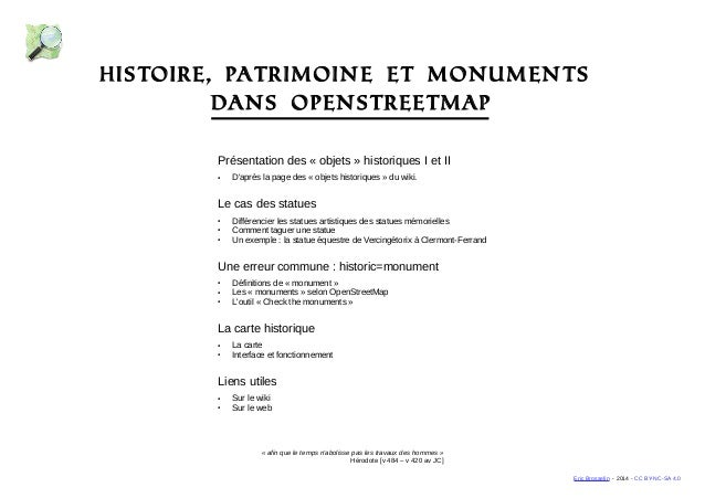Histoire, patrimoine et monuments  Présentation des « objets » historiques I et II  ● D'après la page des « objets histori...