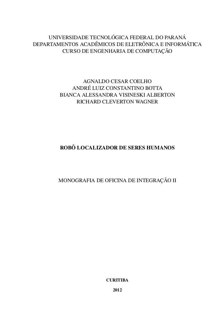 UNIVERSIDADE TECNOLÓGICA FEDERAL DO PARANÁDEPARTAMENTOS ACADÊMICOS DE ELETRÔNICA E INFORMÁTICA         CURSO DE ENGENHARIA...