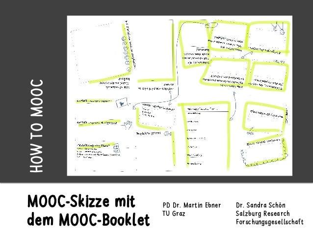 MOOC-Skizze mit dem MOOC-Booklet Dr. Sandra Schön Salzburg Research Forschungsgesellschaft PD Dr. Martin Ebner TU Graz HOW...