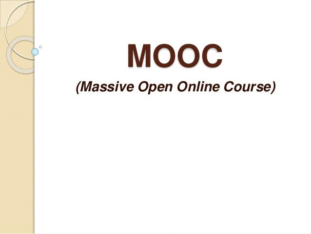 MOOC (Massive Open Online Course)