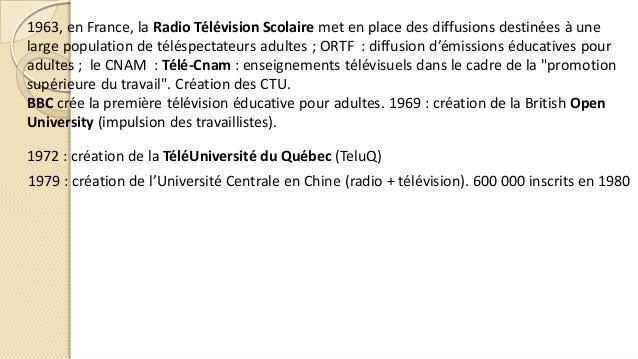 1963, en France, la Radio Télévision Scolaire met en place des diffusions destinées à une large population de téléspectate...