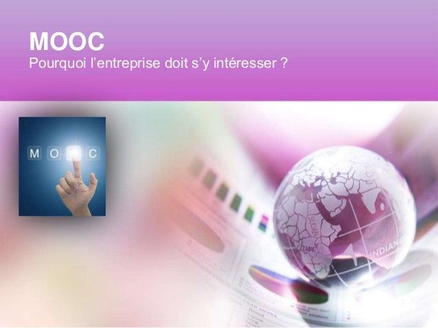 MOOC Pourquoi l'entreprise doit s'y intéresser ?