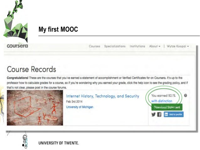 My first MOOC