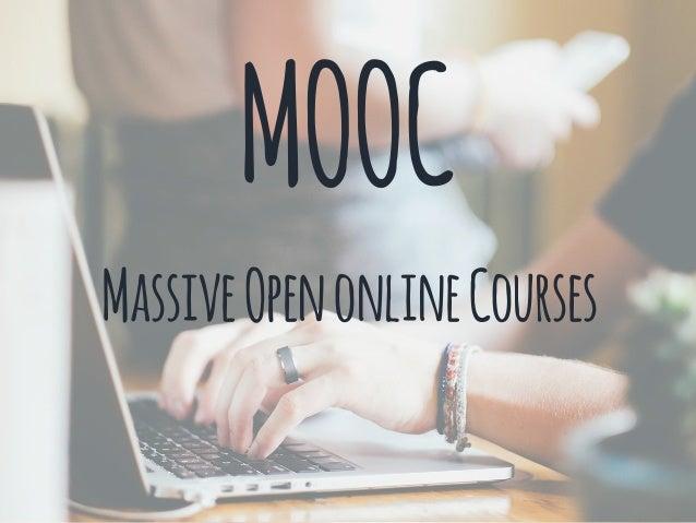 MOOC MassiveOpenonlineCourses