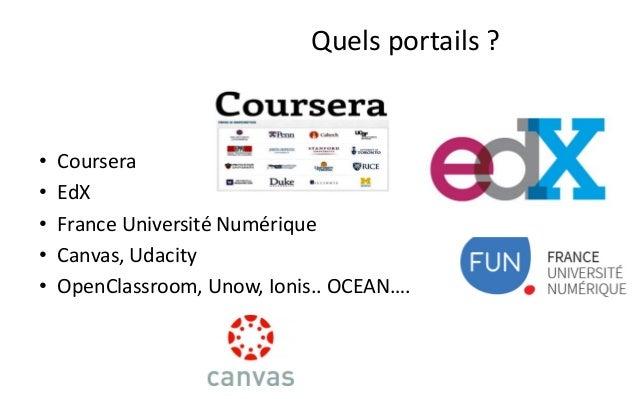 """•Un substitut à l'enseignement traditionnel ?  –""""En 2013, 35 % des universités espagnoles possèdent au moins un MOOC dans ..."""