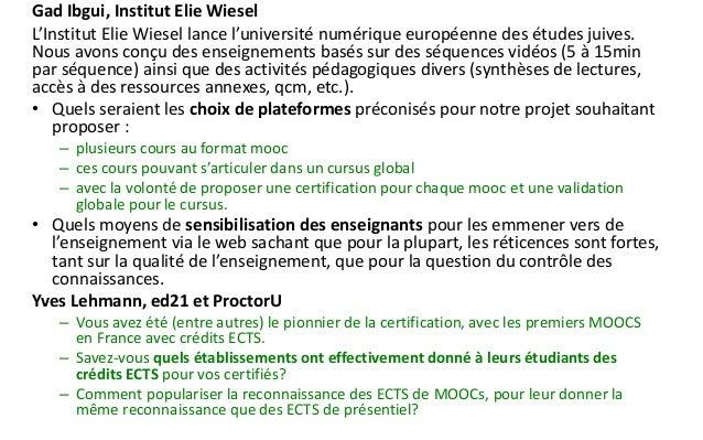 Formations  1.Formation au pilotage de MOOC  2.Évaluation par les pairs et conseils pratiques pour bien démarrer un MOOC» ...