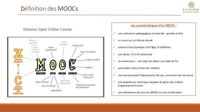 Marché des MOOCs académiques français (1 semestre 2014) Slide 2