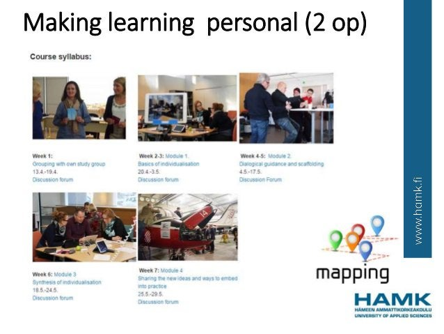 Making learning personal (2 op)