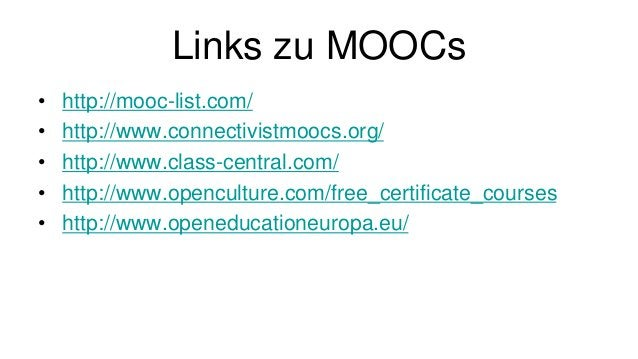 MOOCs & regionale Bildung