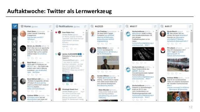 12 Auftaktwoche: Twitter als Lernwerkzeug