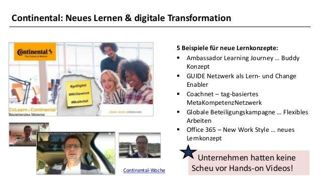 14 5 Beispiele für neue Lernkonzepte: ▪ Ambassador Learning Journey … Buddy Konzept ▪ GUIDE Netzwerk als Lern- und Change ...