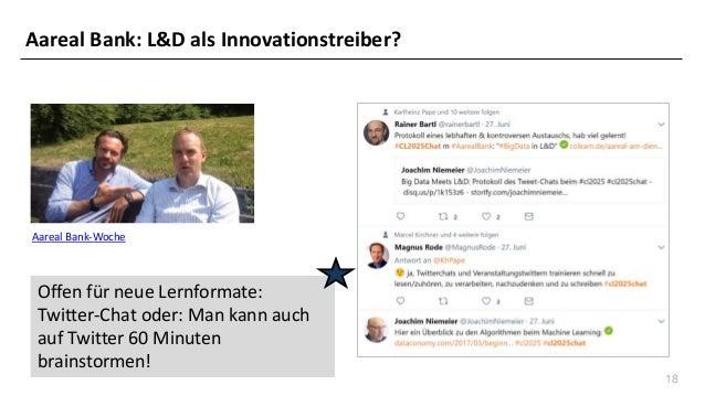 18 Aareal Bank-Woche Offen für neue Lernformate: Twitter-Chat oder: Man kann auch auf Twitter 60 Minuten brainstormen! Aar...