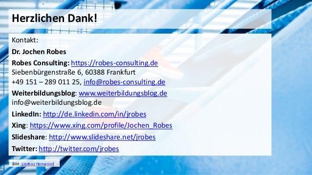 28 Herzlichen Dank! Kontakt: Dr. Jochen Robes Robes Consulting: https://robes-consulting.de Siebenbürgenstraße 6, 60388 Fr...
