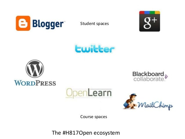 Student spaces         Course spacesThe #H817Open ecosystem