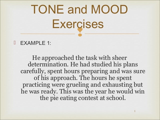 Mood and Tone Practice – Mood and Tone Worksheets