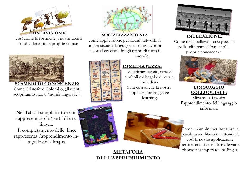 CONDIVISIONE:                             SOCIALIZZAZIONE:  così come le formiche, i nostri utenti                        ...
