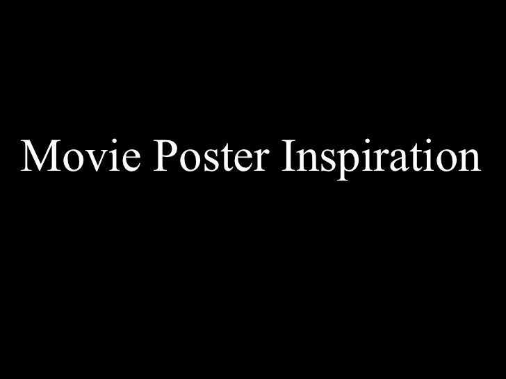 Movie Poster Inspiration