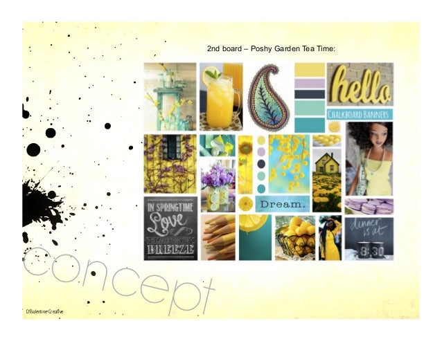 Garden Design Mood Board design & mood boards - d'balentine creative