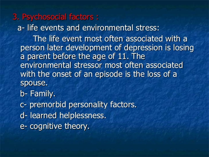 2 what life events are most likely to trigger a stress disorder Anxiety disorders are the most common of mental disorders and affect more than  25  anxiety is a normal reaction to stress and can be beneficial in some  situations  disorders and affect nearly 30 percent of adults at some point in their  lives  7 percent: social anxiety disorder 2 to 3 percent: panic disorder 2  percent:.