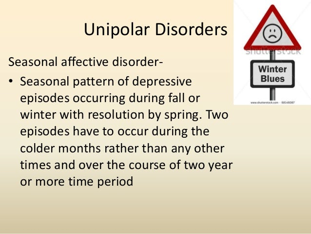 Bipolar Disorder• Hypomaniaelevated, euphoric or irritable mood, lastingthroughout at least four days. The symptomsare not...