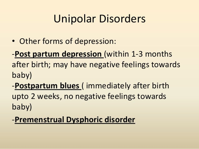 Bipolar Disorder• Cyclothymic Disorder –The occurrence of several periods of alternatinghypomanic symptoms with depressive...