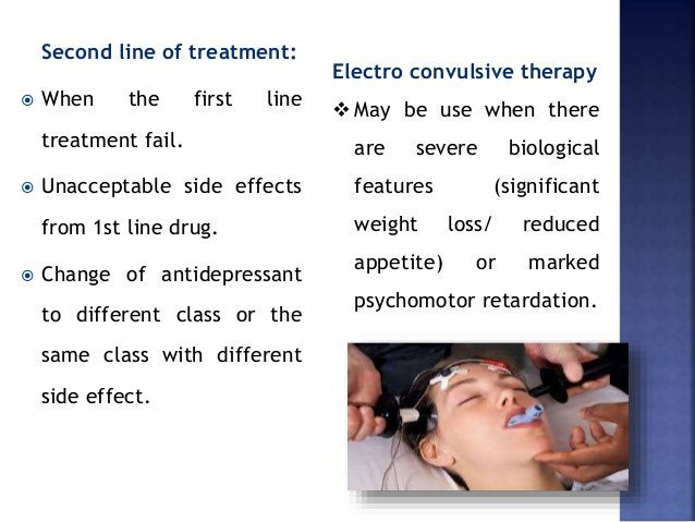 Second line of treatment:  When the first line treatment fail.  Unacceptable side effects from 1st line drug.  Change o...