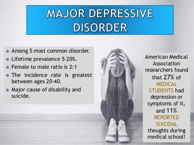  Among 5 most common disorder.  Lifetime prevalence 5-20%.  Female to male ratio is 2:1  The incidence rate is greates...
