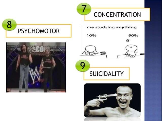 CONCENTRATION SUICIDALITY PSYCHOMOTOR 7 8 9