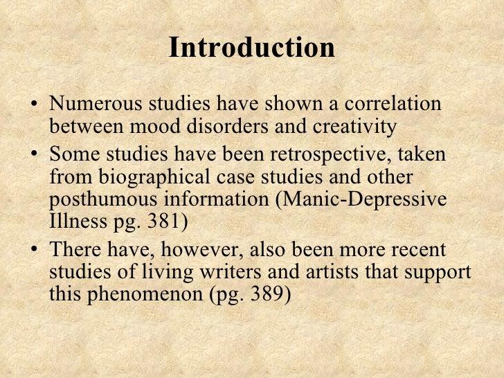 Mood disorders __creativity Slide 2