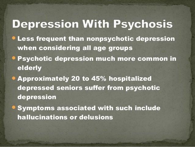 elderly patient on psychotic depression ward term paper example