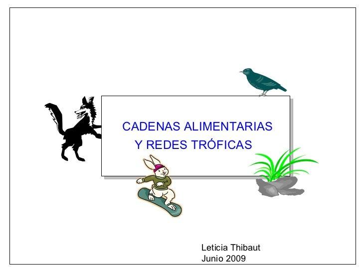 CADENAS ALIMENTARIAS Y REDES TRÓFICAS Leticia Thibaut Junio 2009