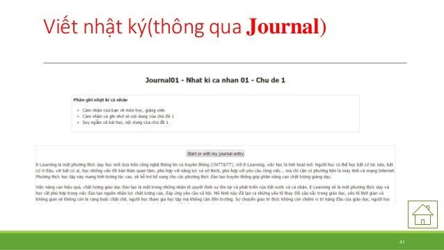 Viết nhật ký(thông qua Journal)  41
