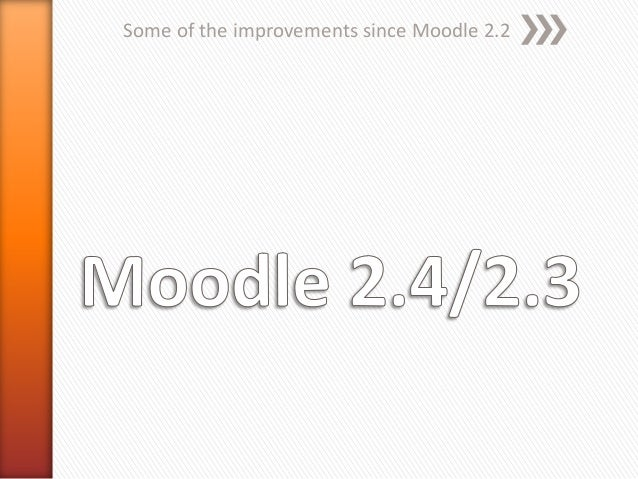 Some of the improvements since Moodle 2.2