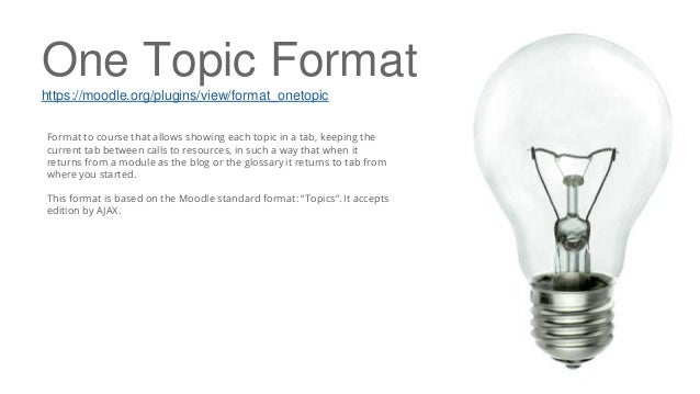 One Topic Format https://moodle.org/plugins/view/format_onetopic Format to course that allows showing each topic in a tab,...