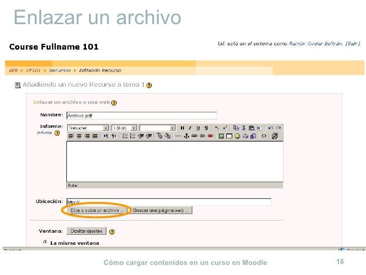 Enlazar un archivo