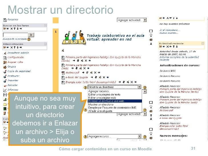 Mostrar un directorio Aunque no sea muy intuitivo, para crear un directorio debemos ir a Enlazar un archivo > Elija o suba...